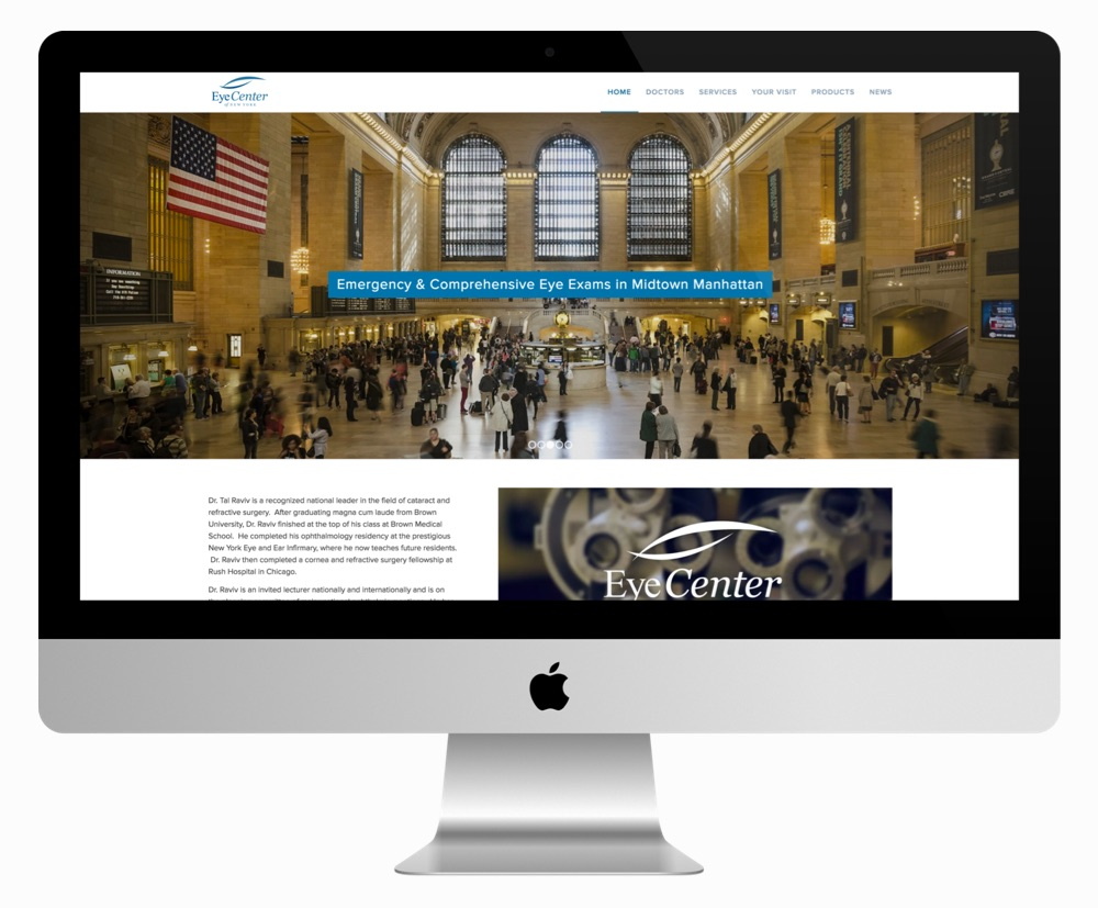 New website for the Eye Center of New York, a Messenger client