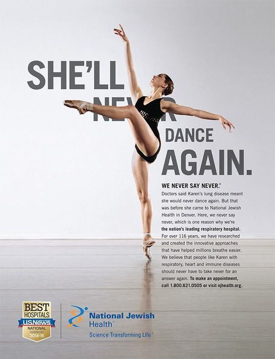National Jewish Health: She'll Dance Again